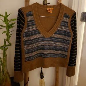 Tory Burch Retro V Neck Sweater
